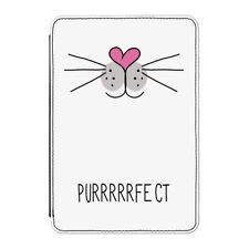 """Purrfect Perfect Cat Face Case Cover for Kindle 6"""" E-reader - Funny Crazy Lady"""