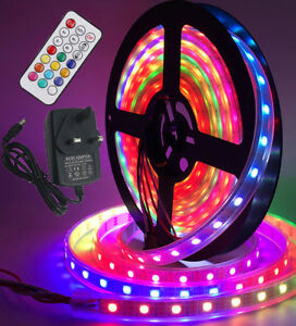 WS2811 Addressable Digital Color 5M 5050 RGB 150 300 LED Strip Waterproof DC 12V