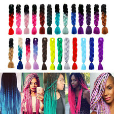60cm Ombre Dip Dye Kanekalon Jumbo Braid Hair Extensions Best Quality Fiber EI