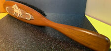 Vintage Clothes Lint Brush Violin Shaped Long Handled Wood Made in West Germany