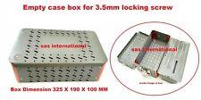 Orthopedic 35mm Locking Screw Instruments Empty Case Tray Box Surgical