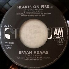 BRYAN ADAMS Hearts On Fire / The Best Was Yet To Come (RARE JAPAN 7in 45rpm) NEW