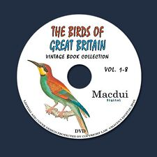 The birds of Great Britain 1795 by William Lewin 8 PDF E-Books on 1 Data DVD
