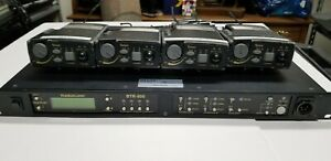Telex RadioCom BTR-800 UHF Wireless Base Station w/ 4 TR-800 Beltpacks