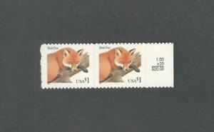 3036 Red Fox Margin Pair Mint NH