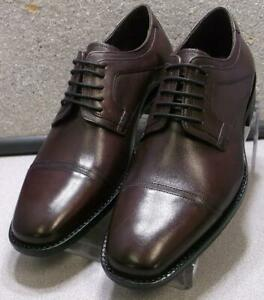 201273 SP50 Men's Shoes Size 9 M Burgundy Leather Lace Up Johnston & Murphy