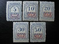 ROMANIA GERMANY WWI OCCUPATION Mi. #1-5 scarce mint stamp set! CV $48.00