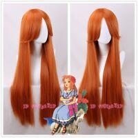The Legend of Zelda:Link's Awakening Marin cosplay wig long straight orange