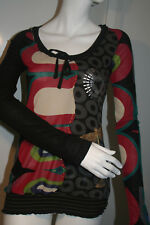 BNWOT Desigual Black Long Sleeve Top Size XS