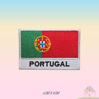 Portugal National Flag Embroidered Iron On Patch Sew On Badge Applique