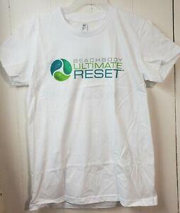 Brand new white Beachbody Ultimate Reset success story t-shirt woman's large
