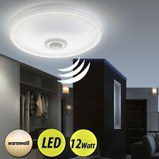 LED Decken Lampe mit Bewegungsmelder Sensor Flur Bad Badezimmer ALU Leuchte Rund