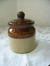 "Dollhouse Miniature Jugs with Handles Brown Ceramic Crocks x2 1/"" 1:12 Scale"