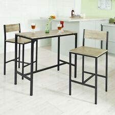 SoBuy® Set tavolo bar con 2 sgabelli, Tavolo alto da bar,OGT03,IT