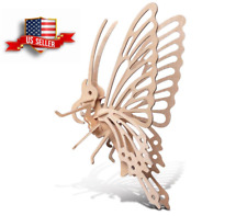 Butterfly Puzzle 3D Wooden Diy Toy Jigsaw Handwork KidAassembled Wood Model Art