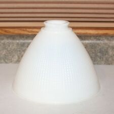"Corning 8"" Milk Glass Waffle Torchiere Lamp  Shade"