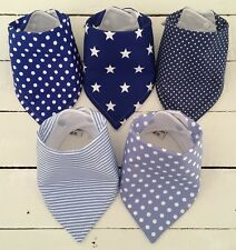 Bandana Dribble Bib Bundle x Stars, Spots & Stripes ~ Blue Mix~Cute!! ~ Bilibib
