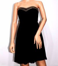 Elise Ryan Gold Trim Babydoll Dress in Black UK8 EU36 NO RETURN RRP£55