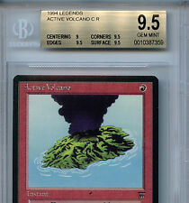 MTG Legends Active Volcano BGS 9.5 Gem Mint card Magic the Gathering WOTC 7359