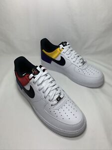 "Nike Air Force 1 '07 LV8 ""Unite"" Men's Size 10 WHT/BLK-MULTI COLOR CW7010 100"