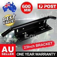 """23"""" License Number Plate Frame Holder Bull Bar Bumper Mount Light LED Bracket"""
