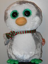 """Ty 17"""" LARGE/JUMBO Beanie Boos~ CHILLY Christmas Holiday Penguin Exclusive NEW"""