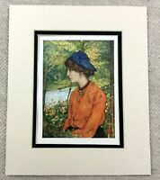 1905 Antique Print Norwegian Girl Portrait Painting of a Lady NORWAY