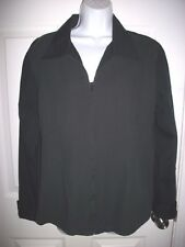 Chico's Women Black Zippered Pintucked  Shirt Size 3