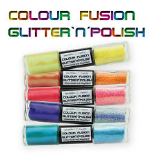 Nail Art Colour Fusion Glitter & Polish / Nagellack Set