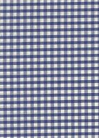 """Royal Blue & White 1/4"""" Gingham check fabric/material - FREE UK P&P"""