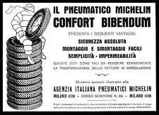 PUBBLICITA' 1929 MICHELIN PNEUMATICI CONFORT BIBENDUM FUMO GOMME AUTO