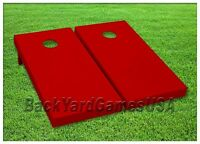 RED Custom Cornhole Boards BEANBAG TOSS GAME w Bags or Choose your COLOR Set 300