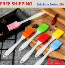 6pcs Oil Brush Silicone Baking Pastry Cream For BBQ Basting Kitchen Party Grill