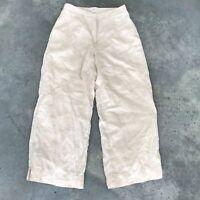 J. Jill Linen Blend Womens Beige Coral J.Jill Lagenlook Loose Pants A19 Size 2