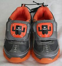 "Starter ""Lights Up Construction"" Sz. 7 Toddler/Boys Tennis Shoes  Grey/Orange"