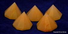 Yellow Aventurine Natural Crystal Quartz Healing Faceted Pyramid Reiki Healing