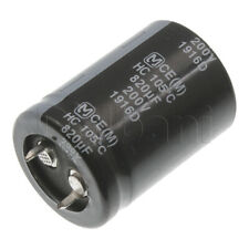 New Snap In 2 Pin Capacitor 450V 820UF 35mm Diameter 50mm Height