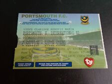 Portsmouth V internacional X1 Steve Claridge testimonios amigable billete 2003