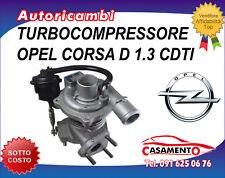 TURBOCOMPRESSORE OPEL CORSA D 1.3 CDTI 55KW DAL 10/2006 IN POI