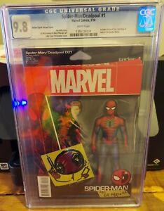 SPIDER-MAN/DEADPOOL #1 CGC 9.8 ACTION FIGURE VARIANT COVER SPIDER-MAN