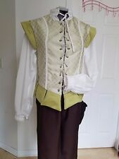 Renaissance Doublet (Sml) - Light Green with White & Lime Green Accents