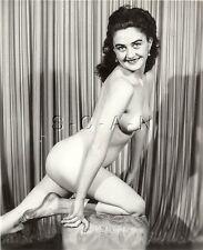 Original Vintage 40s-60s Desnudo Rp- Étnico Woman- On Knees- Dirty Pies Se