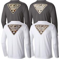 "New Mens Columbia ""Terminal Tackle PFG Triangle II"" Camo LS T-Shirt Top Tee Polo"
