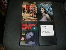 LOT OF 4 DVD MOVIES GLASS HOUSE GOOD AGAINST EVIL BLOODSUCKING VAMPIRE EVIDENCE