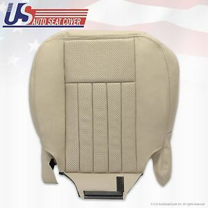 2005 2006 Lincoln navigator Passenger bottoms perforated leather seat Cover Tan