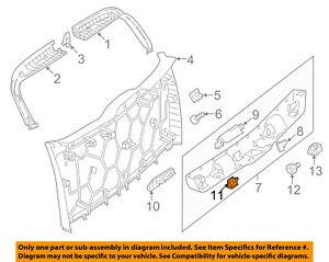 Mercedes MERCEDES-BENZ OEM ML350 Liftgate Tailgate-Interior Lamp 0009060235