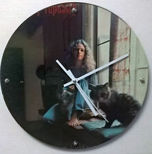 """Carol King Tapestry Album Clock 11.5"""" round battery operated"""