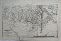 1856 Abyssinia Ethiopia Hand Coloured Antique Map by Augustus Petermann
