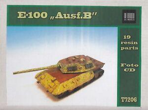 E-100 - Ausführung B - Deutscher Panzer Prototyp WW 2 - 1:72 Resinbausatz OVP