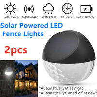 2x Solar Powered LED Garden Fence Light Wall Patio Door Decking Outdoor Lighting
